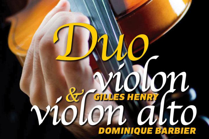 Concert Duo de violon et violon alto